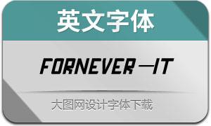 Fornever-Italic(英文字体)