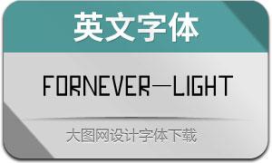 Fornever-Light(英文字体)