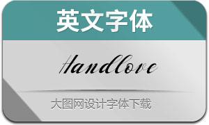 HandloveScript(英文字体)