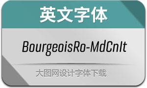BourgeoisRo-MdCnIt(英文字体)