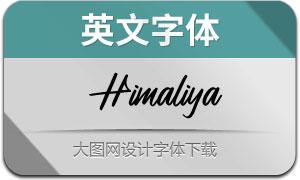 Himaliya(英文字体)