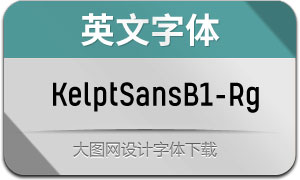 KelptSansB1-Regular(英文字体)