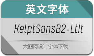 KelptSansB2-LightItalic(英文字体)