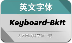 Keyboard-BlackItalic(英文字体)