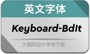 Keyboard-BoldItalic(英文字体)