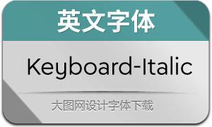 Keyboard-Italic(英文字体)