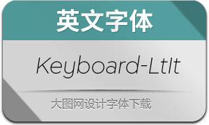 Keyboard-LightItalic(英文字体)