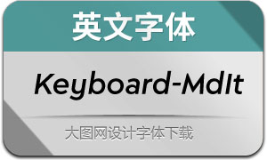 Keyboard-MediumItalic(英文字体)
