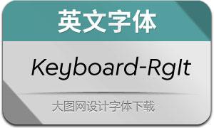 Keyboard-RegularItalic(英文字体)