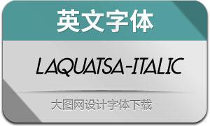 Laquatsa-Italic(英文字体)
