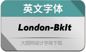 London-BlackItalic(英文字体)