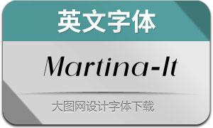 Martina-Italic(英文字体)