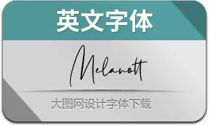 Melanott(英文字体)