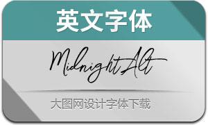 MidnightAlt(英文字体)