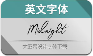 Midnight-Regular(英文字体)
