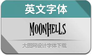 Moonhells(英文字体)