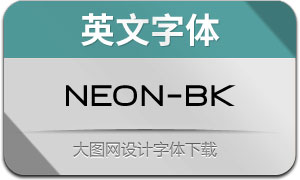 Neon-Black(英文字体)