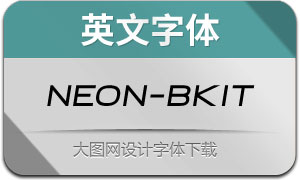 Neon-BlackItalic(英文字体)