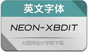 Neon-ExtraBoldItalic(英文字体)