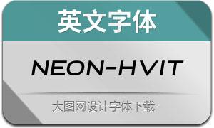 Neon-HeavyItalic(英文字体)