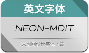 Neon-MediumItalic(英文字体)