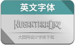 NusantaraLineExtrude(英文字体)