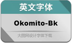 Okomito-Black(英文字体)