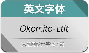 Okomito-LightItalic(英文字体)