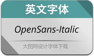OpenSans-Italic(英文字体)
