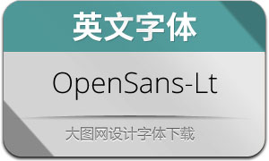 OpenSans-Light(英文字体)