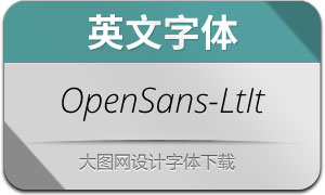OpenSans-LightItalic(с╒ндвжСw)