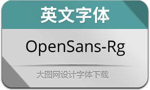 OpenSans-Regular(英文字体)