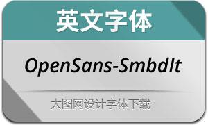 OpenSans-SemiboldIt(英文字体)