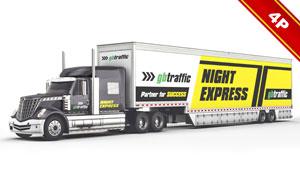 重型卡车车身涂装效果展示贴图模板
