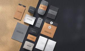 记事本名片与包装盒等效果展示模板