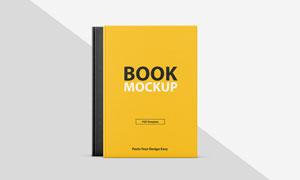 叠放效果的两本书封面设计贴图模板