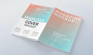 杂志画册等出版物封面封底贴图模板
