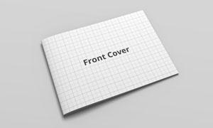 合上的画册封面设计效果贴图源文件