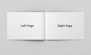 展开效果的画册内文页面贴图源文件