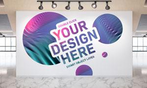 公司企业的形象墙应用效果贴图模板
