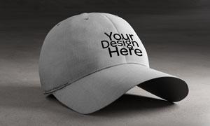棒球帽图案印刷效果应用贴图源文件