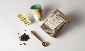 纸杯与咖啡袋包装效果应用贴图模板