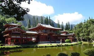 夏威夷神庙谷美景摄影图片