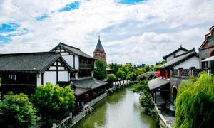 台儿庄古城美景摄影图片