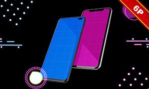 两大主流手机操作系统界面贴图模板