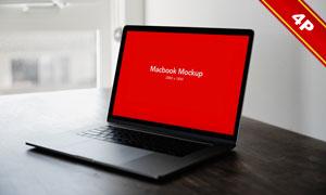 笔记本电脑屏幕内容贴图模板源文件