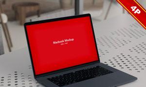 不同场景中的笔记本电脑样机源文件