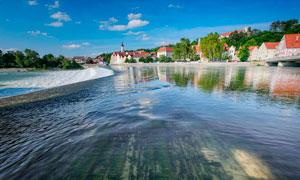 欧美海边城镇高清摄影图片