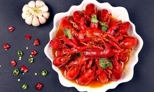 香辣小龙虾美食菜肴摄影图片