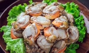 鲜美扇贝肉美食菜品摄影图片